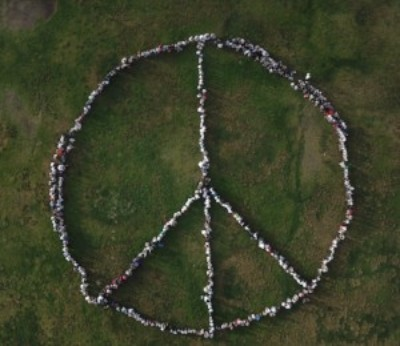 Bonsall West student peace sign