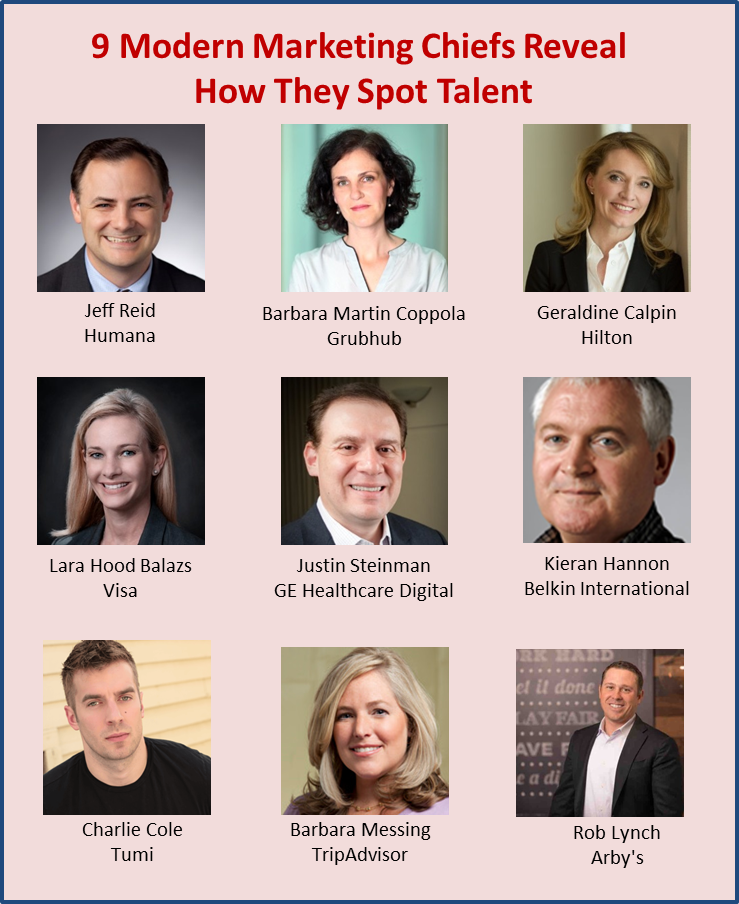9 Modern Marketing Chiefs Reveal How They Spot Talent