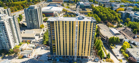 Structure of UBC's tall wood building now complete