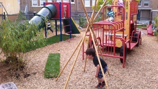 Kids more active, less depressed when playgrounds include natural elements