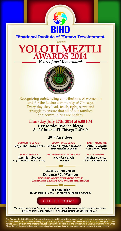Yolotlmeztli Awards info@casamexicousa.com