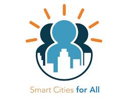 Smart Cities for All logo and text smart cities for all