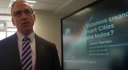 James Thurston, Vice President, G3ict speaking over video