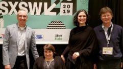 James Thurston, Karen Tamley, Megan Lawrence and Enrique de la Madrid at SXSW 2019