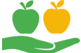 logo pommes bords blancs