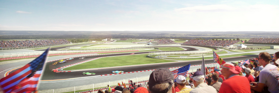 An incredible view from Turn 15 Premium Seating!