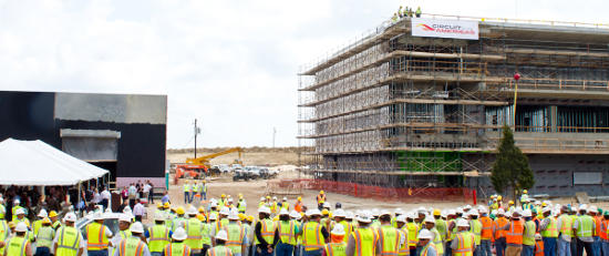 Circuit of The Americas Topping Off Ceremony Celebrates Milestone