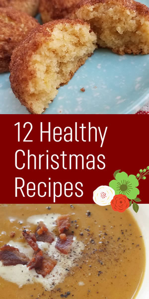 12 healthy Christmas recipes graphic