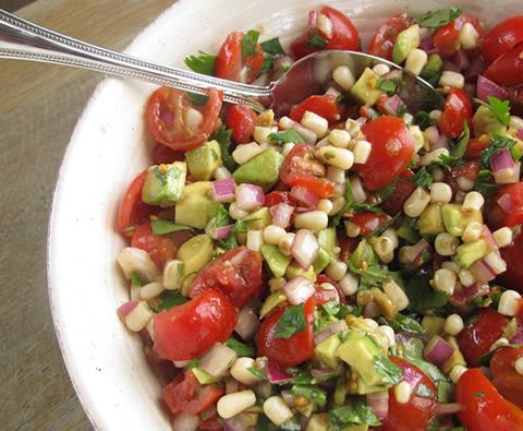 photo: tomato avocado salsa
