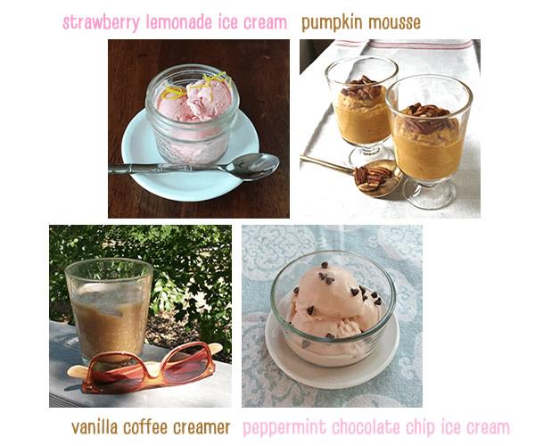 photos of 4 delicious sugar-free desserts