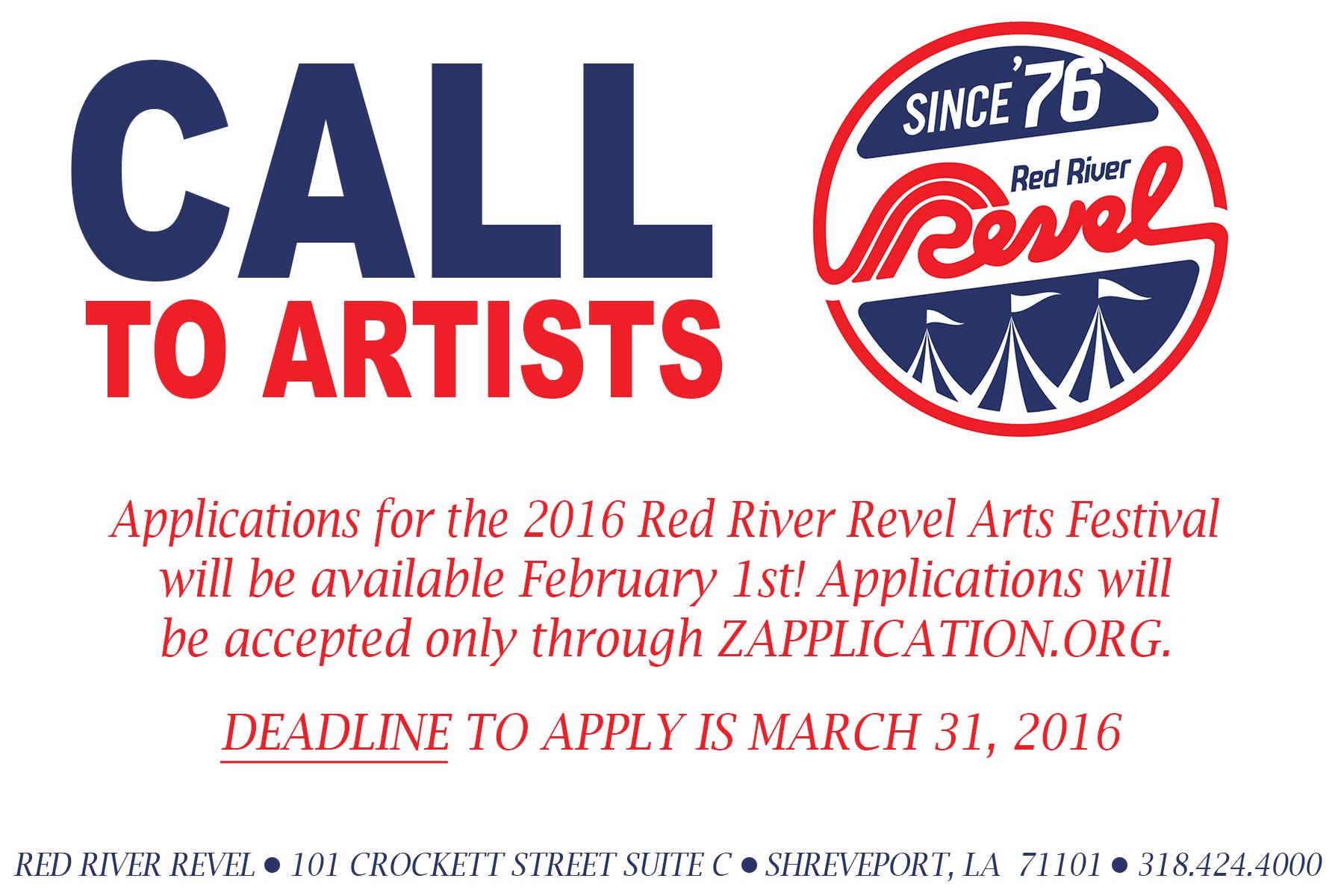 Red River Revel VISUAL ARTIST CALL
