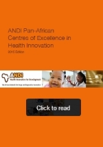 ANDI features its netwrok of pan-African centres of excellence in health innovation in new publcation (2015)
