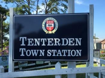 Armistice Day centenary commemoration Tenterden Town Station