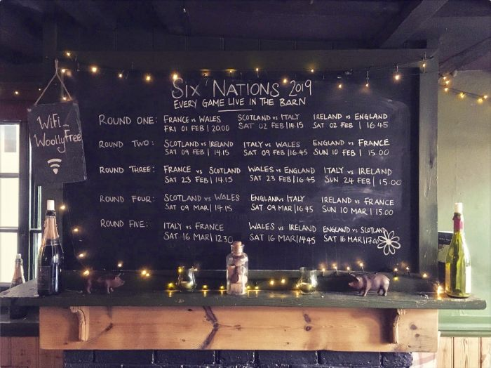 Six Nations at the Woolpack
