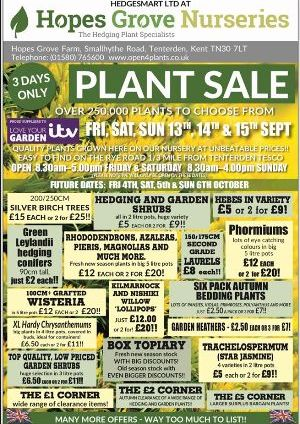 Hopes Grove Plant Sale