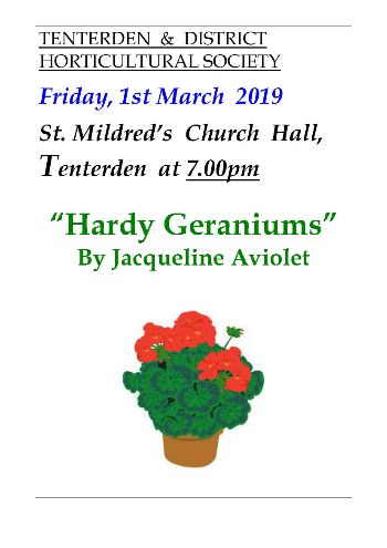 Horticultural Society Talk March 2019