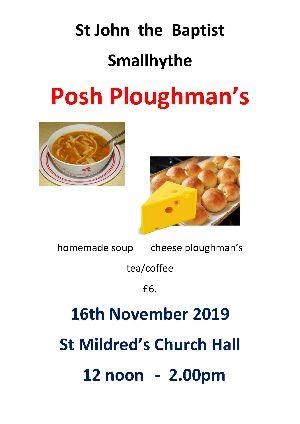 Smallhythe Church Posh Ploughmans at Mildreds Church Hall