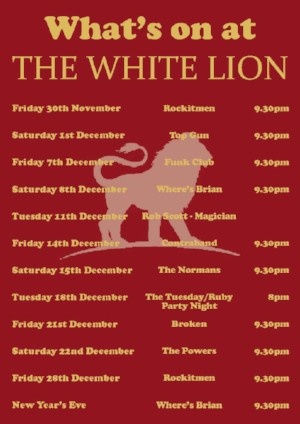 Whats On White Lion Tenterden