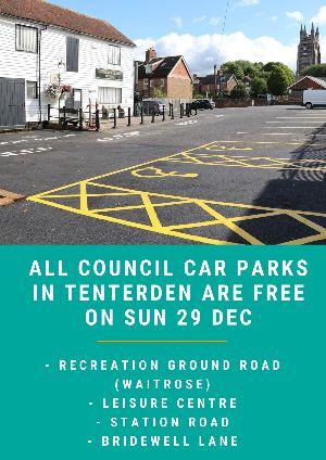 Free Council Car Parks Sunday 29 Dec
