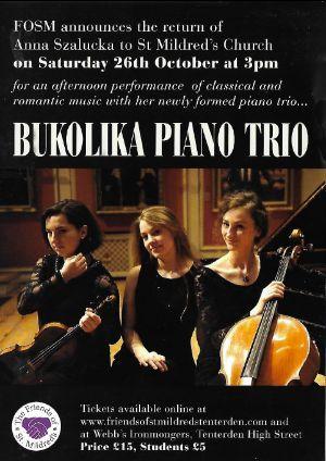 Bukolika Piano Trio Concert
