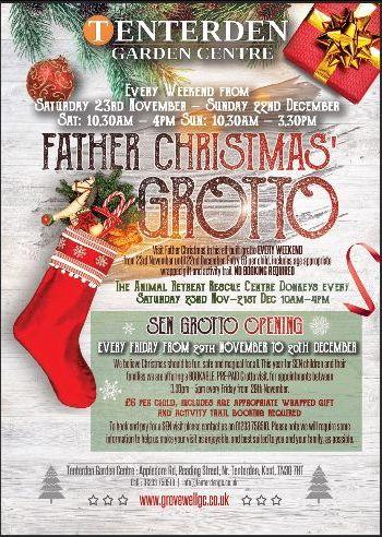 Father Christmas Grotto at Tenterden Garden Centre