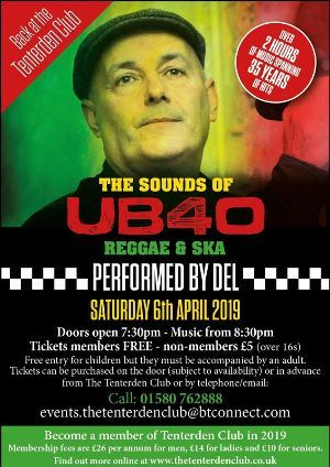 Tenterden Club Sounds of UB40