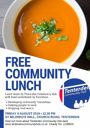 Free Community Lunch, Tenterden Community Hub