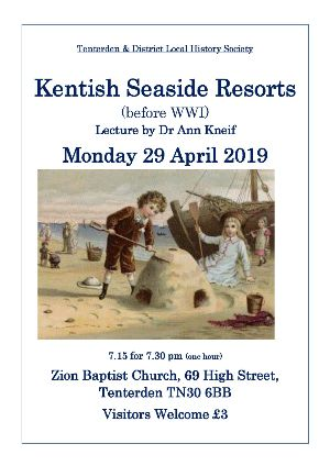 History Society Lecture  Kentish Seaside Resorts