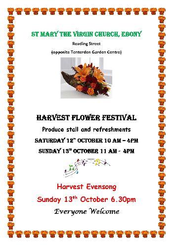 Harvest Flower Festival Ebony Church