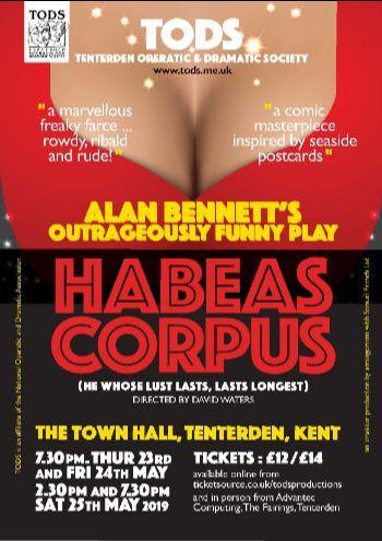 TODS play Habeas Corpus by Alan Bennett