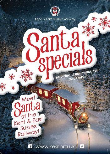 Tenterden Town Station, Santa Special steam trains and fun