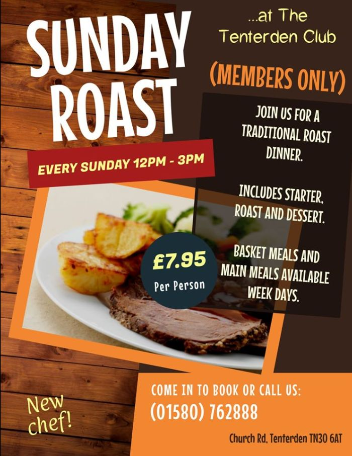 Sunday Lunch at the Tenterden Club