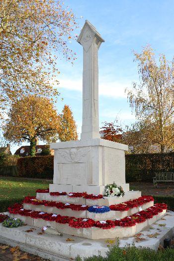 War Memorial in Tenterden, Remembrance Sunday