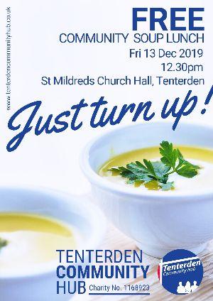 Tenterden  Community Hub free community soup lunch