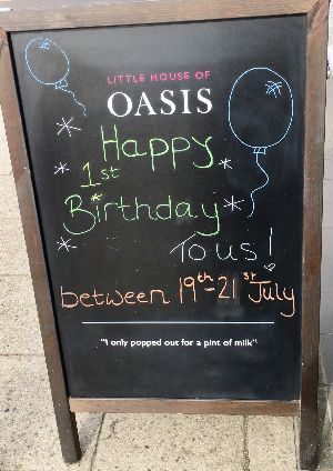Oasis Tenterden's 1st birthday 15% off