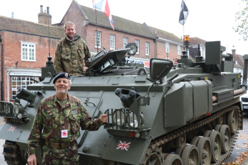 The Poppy Appeal in Tenterden, Military Vehicles