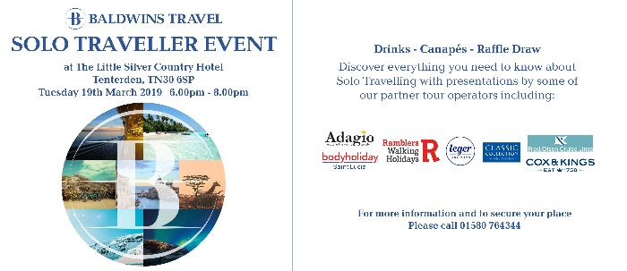 Solo Traveller Event Baldwins Travel