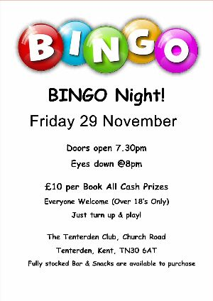 Bingo at Tenterden Club