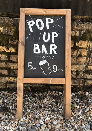 Pop Up Bar Old Dairy Brewery