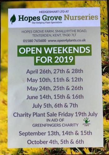 Hopes Grove NurseriesPlant sale