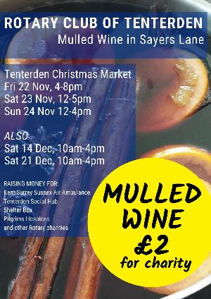 Christmas Street Collections and Mulled Wine | Tenterden Rotary Club