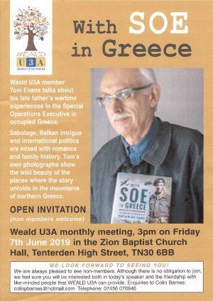 Weald U3A Lecture - Tom Evans