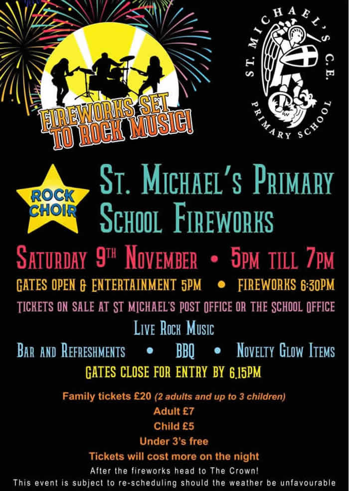 St Michaels Primary School Fireworks