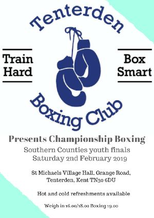 Tenterden Boxing Club Southern Counties Youth Finals