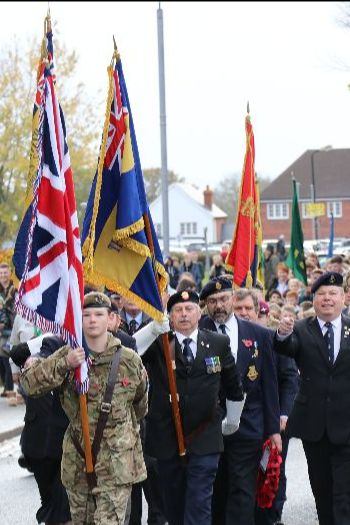 Remembrance Sunday Parade in Tenterden