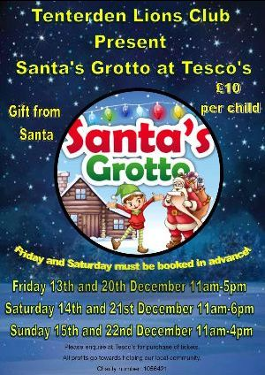 Tenterden Lions Club Santa Grotto at Tesco