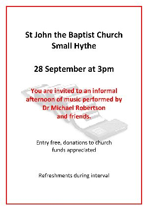 Afternoon of Music Smallhythe Church