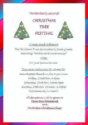 Christmas Tree Festival   Tenterden Christmas Market