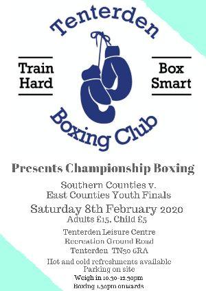 Tenterden Boxing Club Championship Boxing Show