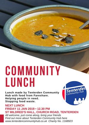 Tenterden Community Lunch Jan 2019